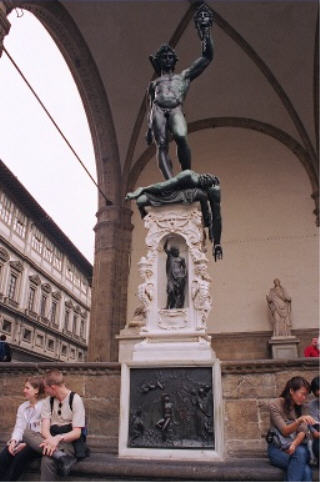 Cellini's famous Perseus with the headless Medusa(1553)
