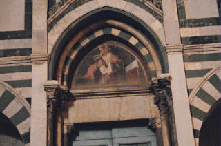 Church of Santa Maria Novella, left door top