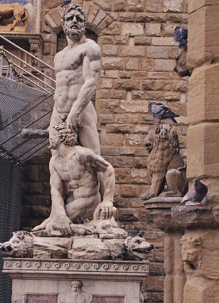 Hercules and Cacus (1534) by Baccio Bandinelli